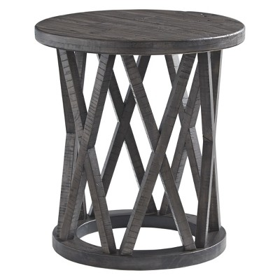 Sharzane Round End Table Taupe - Signature Design by Ashley