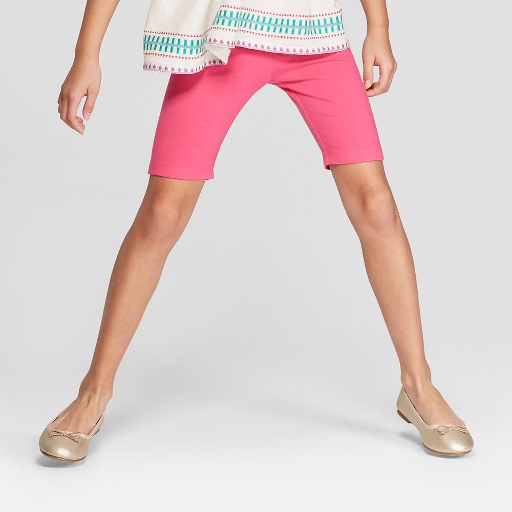 Girls' Bike Shorts - Cat & Jack Magenta (Pink) XL