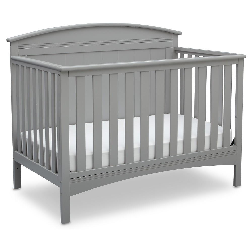 Image of Delta Children Archer 4-in-1 Standard Full-Sized Crib - Gray