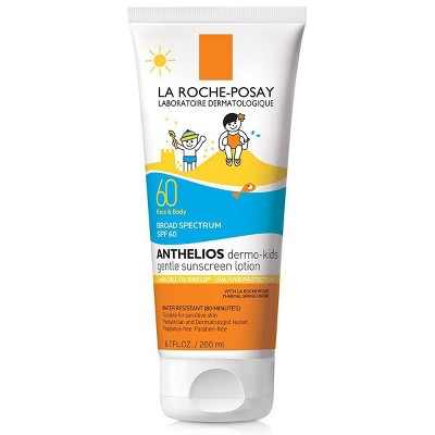 La Roche Posay Anthelios Kids Gentle Sunscreen Lotion for Face and Body- SPF 60 - 6.7oz
