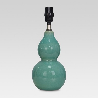 Double Gourd Ceramic Small Lamp Base Aqua Lamp Only - Threshold™