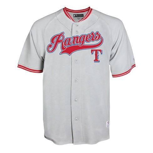 promo code 20205 f7d1f Texas Rangers Men's Gray Retro Team Jersey - XL