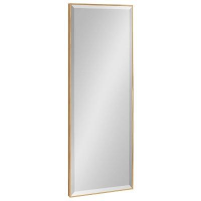"16.7"" x 48.7"" Rhodes Full Length Wall Mirror Gold - Kate & Laurel All Things Decor"