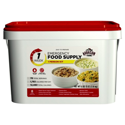 Augason Farms 1-Week 1-Person Emergency Food Supply Kit - 111oz Pail - image 1 of 11