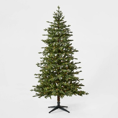 6.5ft Pre-lit Balsam Fir Artificial Christmas Tree Clear Lights with AutoConnect - Wondershop™