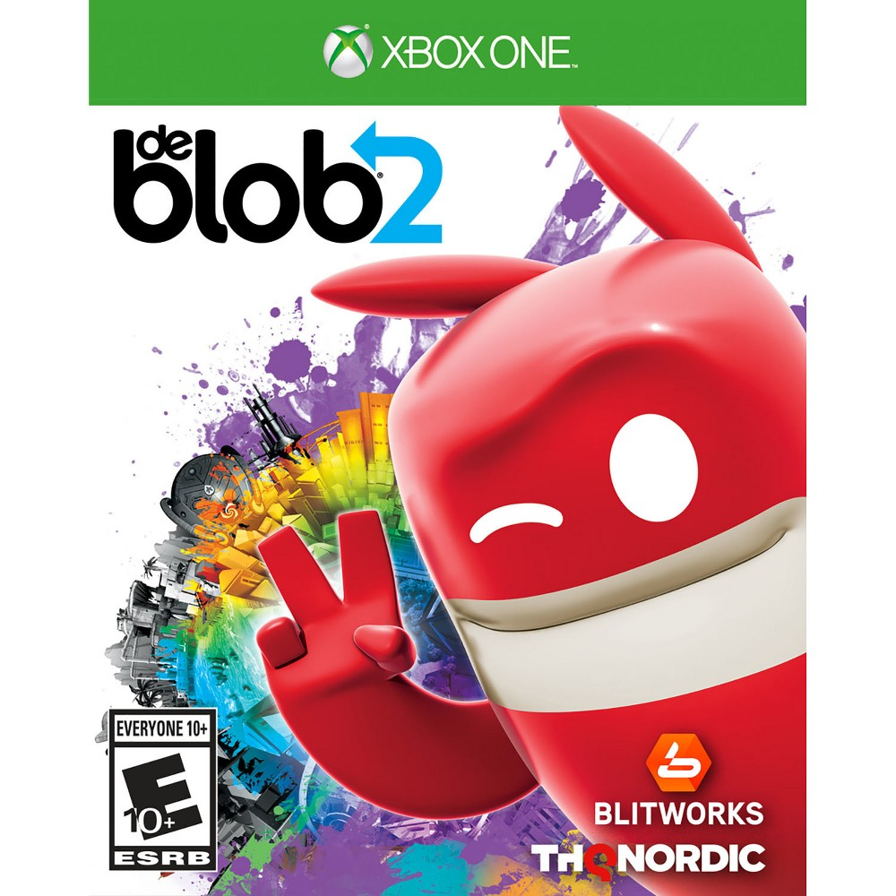 De Blob 2 - Xbox One, Video Games Comrade Black is back and so is his war on Color. There will be no stopping him or his brainwashing new cult from taking over Prisma City-that is, until de Blob comes back to re-ignite color revolution! de Blob 2 is a platformer which utilizes unique painting functionality as the main game mechanic along with classic platforming actions and low gravity space. Set a few years after the events of the first de Blob game, action in de Blob 2 revolves around another attempt to wipe all colorful individuality from Prisma City and its residents. It's up to the player to join the Color Underground and bring color back to the world. Set off on an action packed color adventure with 12 new single player story levels where custom paints, patterns and music bring the world to life any way you want. Only the colorful prankster Blob can foil Papa Blanc's evil hypno plot to steal all the color from Prisma City. Speed smash through walls, jet jump over skyscrapers and slam squash Inkies with all new power-ups that turn you into a super Blob. Paint your way past icy outposts, tropical bio domes and distant space stations to free the fair citizens of Prisma City. Inside, outside, above the Earth and below it, Blob embarks on mini missions and epic boss battles to restore color and music back to this rich universe. Recruit your friends to join the color evolution in the 2 player split screen coop mode.