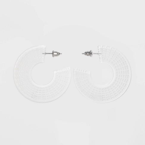 Mesh Detail Acrylic Hoop Earrings - Wild Fable™ - image 1 of 2