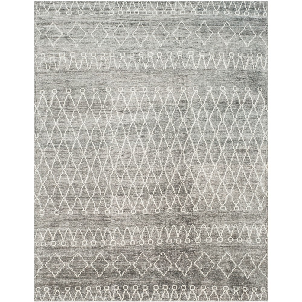 9'X12' Tribal Design Knotted Area Rug Gray/Beige - Safavieh