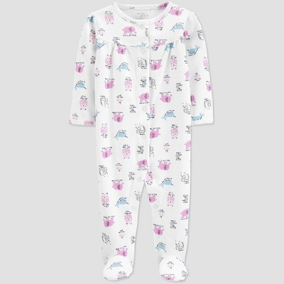 Little Planet Organic by carter's Baby Girls' Footed Sleeper - Opaque 6M