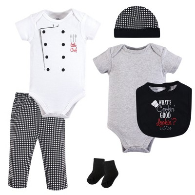 Little Treasure Baby Boy Layette 6-Piece Set, Whats Cookin?