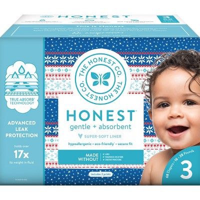 Honest Company Disposable Diapers Club Box - Size 3 (68ct)