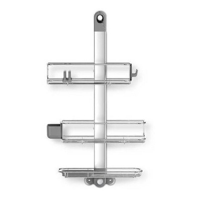 Adjustable Stainless Steel and Anodized Aluminum Shower Caddy Large Silver - simplehuman