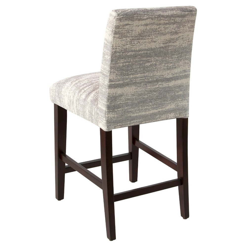 Tapered Counter Stool with Buttons - Zara Feather (26) - Skyline Furniture, Gray