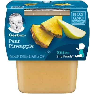 Gerber 2nd Foods Pear Pineapple, 4oz, 2ct