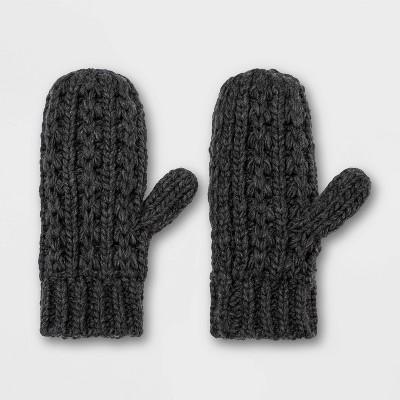 Women's Hand Knit Lined Mittens - Universal Thread™