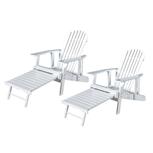 Hayle 2pk Wood Reclining Adirondack Chair with Footrest - Christopher Knight Home - image 1 of 4