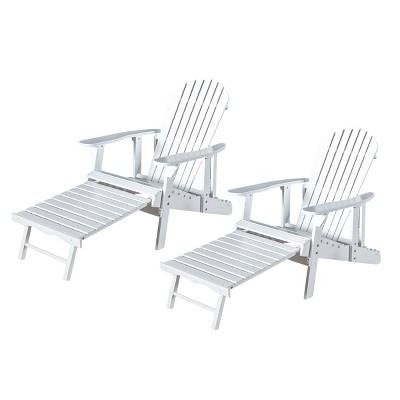 Exceptionnel Hayle 2pk Wood Reclining Adirondack Chair With Footrest   Christopher  Knight Home