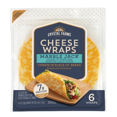 Crystal Farms Marble Jack Cheese Wraps - 6oz/6ct