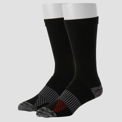 Hanes Men's Compression Socks 2pk - Black 6-12