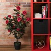 Vickerman Artificial Rose Plant in Pot. - image 4 of 4