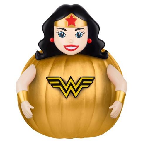 Wonder Woman 6pc Halloween Pumpkin Push-In Decorating Kit - image 1 of 2