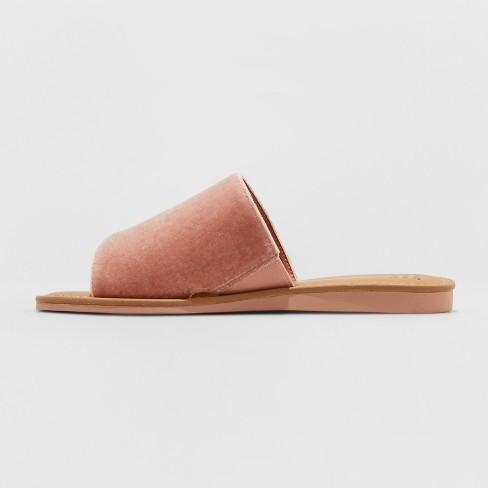 42214d844ed1 Women s Dorathea Velvet Slide Sandals - A New Day™ Blush 6   Target