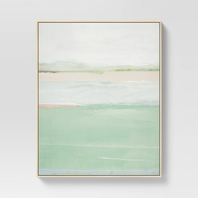 """24"""" x 30"""" Abstract Framed Wall Art Teal - Project 62™"""