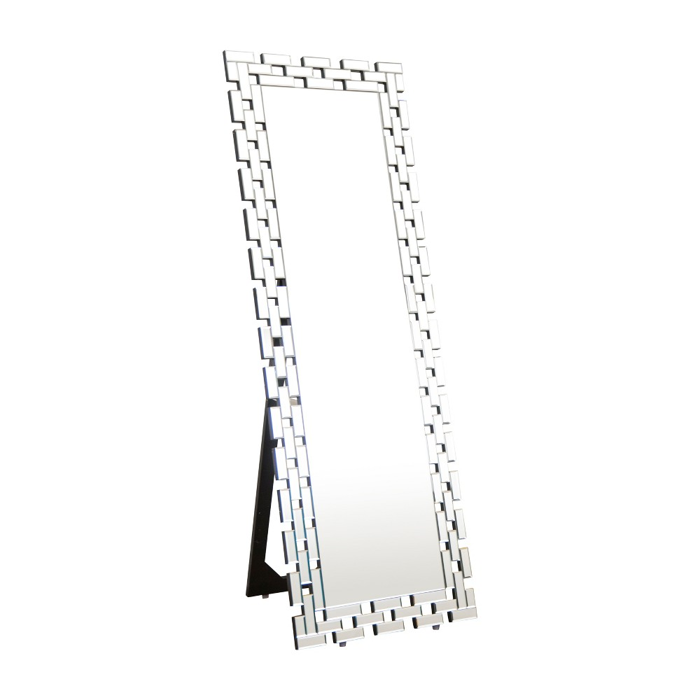 "Image of ""Abbyson Living 63""""x22"""" Darlene Standing Floor Mirror Silver"""