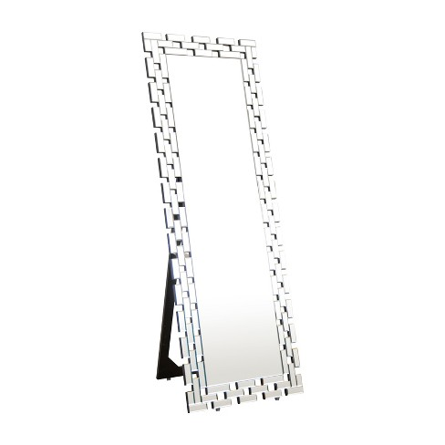"Abbyson Living 63""x22"" Darlene Standing Floor Mirror Silver - image 1 of 5"