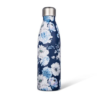 17.5oz Stainless Steel Tumbler Blue Floral