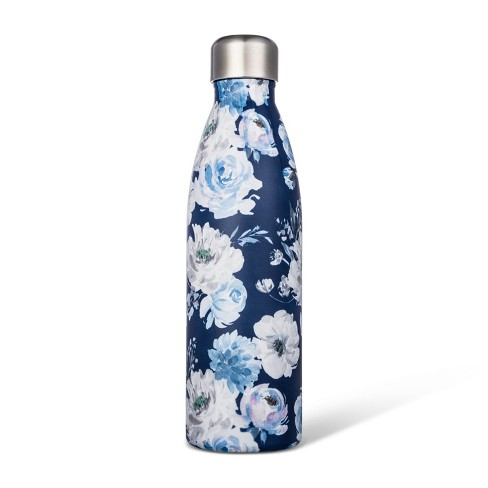 17.5oz Stainless Steel Tumbler Blue Floral - image 1 of 1