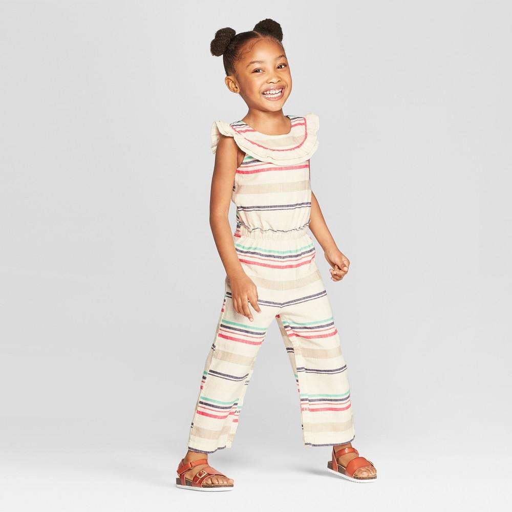 Genuine Kids from OshKosh Toddler Girls' Striped Bodysuit - Cream 5T, Beige