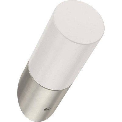 "Franklin Brass 5pk 2.25"" Modern Slant Decorative Hooks Nickel/Pure White"