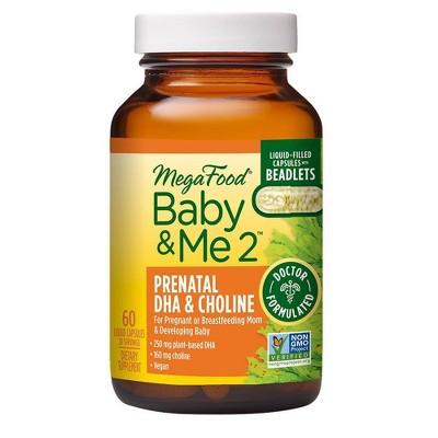 MegaFood Baby and Me Prenatal DHA & Choline Capsules - 60ct