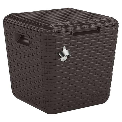 Outdoor Cooler Cube - Brown - Suncast - image 1 of 4