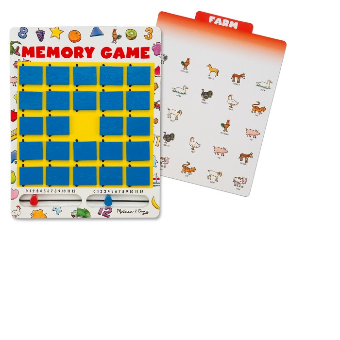 Melissa & Doug® Flip to Win Travel Memory Game - Wooden Game Board, 7 Double-Sided Cards - image 1 of 5