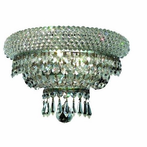 Elegant Lighting 1803W12C Primo 2-Light Crystal Wall Sconce, Finished in Chrome - image 1 of 1