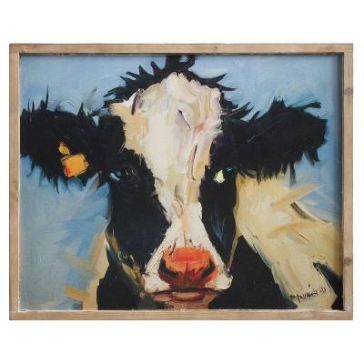 Cow Wood Wall Plaque (20 x16 )- 3R Studios