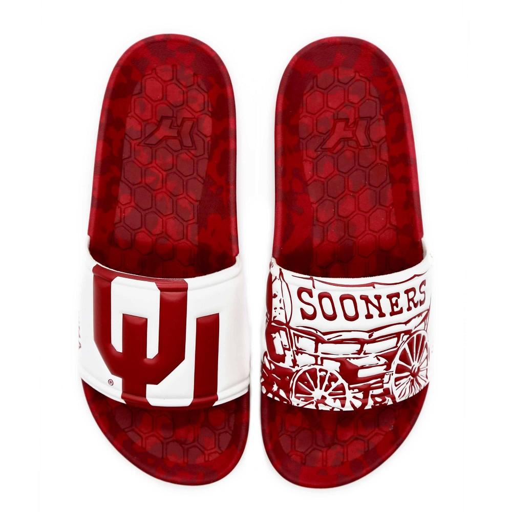 Ncaa University Of Oklahoma Sooners Embossed Slide Sandals W11 M9