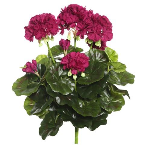 "Artificial Geranium Bush (15.25"") Purple - Vickerman - image 1 of 1"