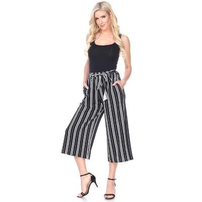 Women's Gaucho Pants - White Mark