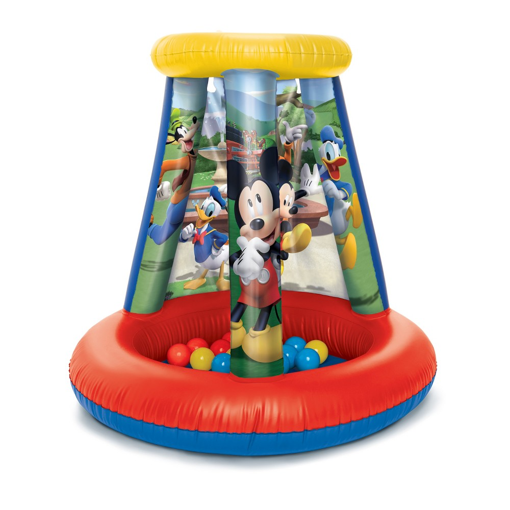Disney Junior Mickey Mouse Inflatable Playland Ball Pit, Multi-Colored
