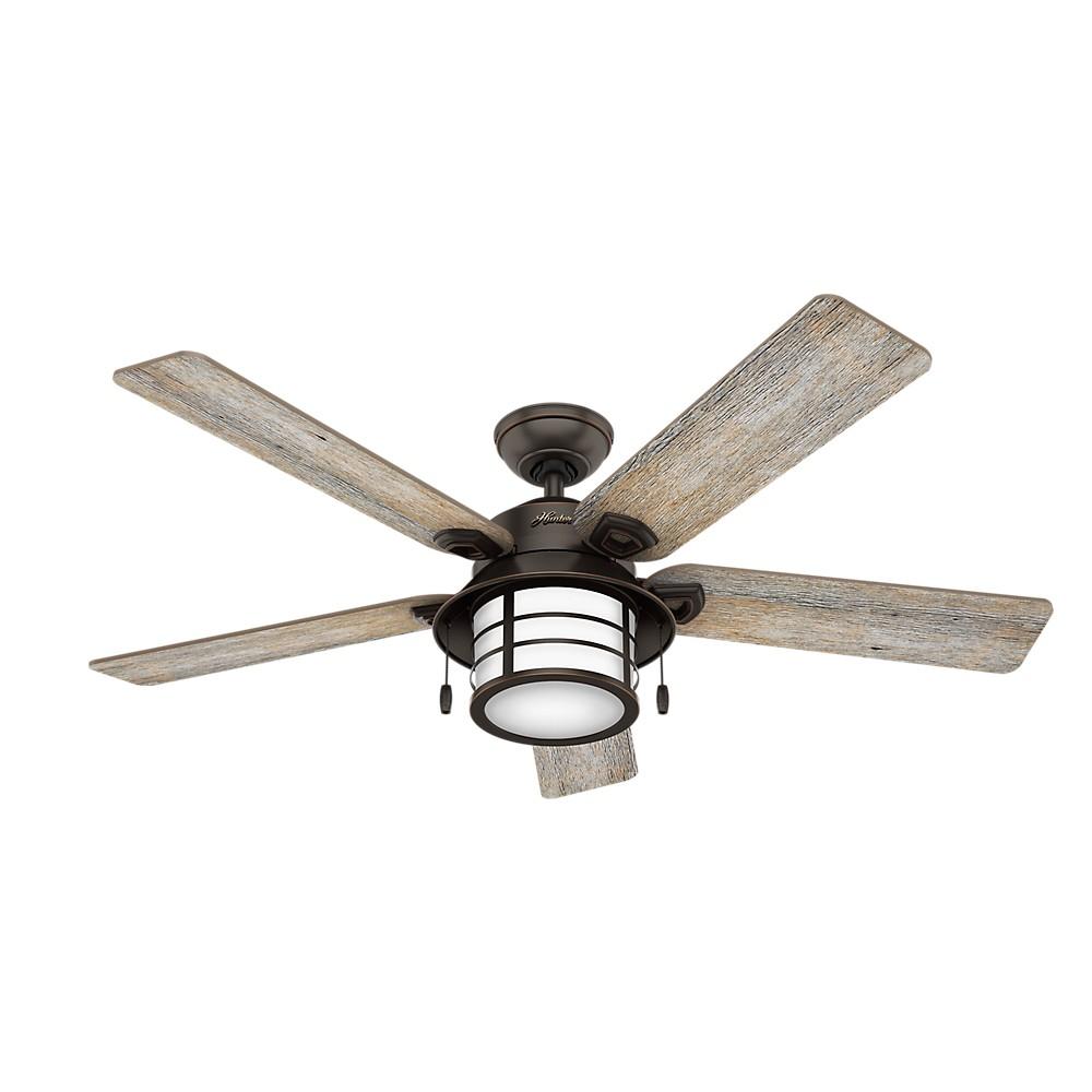 54 Key Biscayne Bengal Lighted Ceiling Fan Black - Hunter Fan