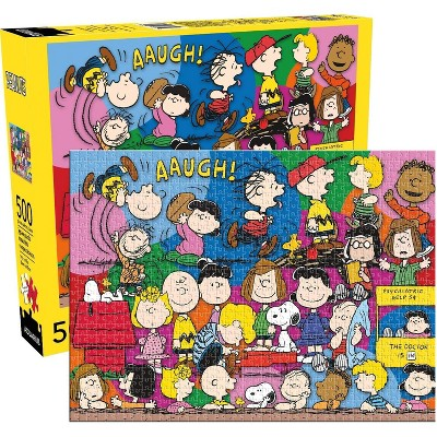 NMR Distribution Peanuts Cast 500 Piece Jigsaw Puzzle