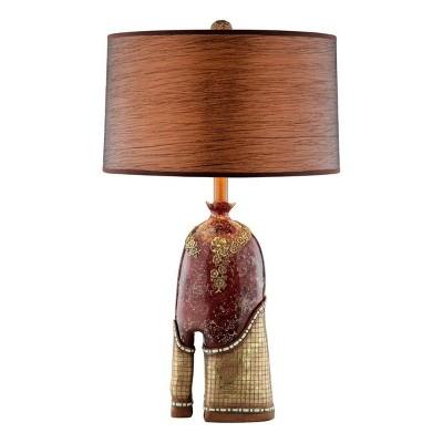 OK Lighting Crystal Stone Table Lamp