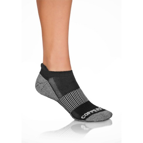 Copper Fit Ankle Socks Women's Black - 3pk 9-11 - image 1 of 3