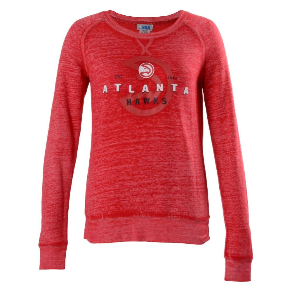 Atlanta Hawks Women's Retro Logo Burnout Crew Neck Sweatshirt L, Multicolored
