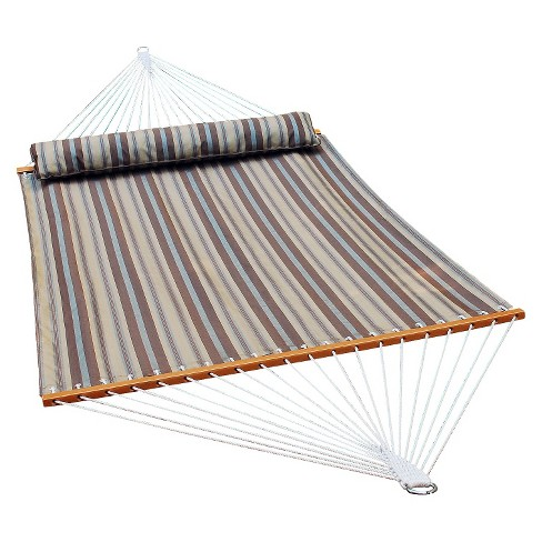 Quick Dry 13' Patio Hammock with Pillow - Natural Stripe - image 1 of 1