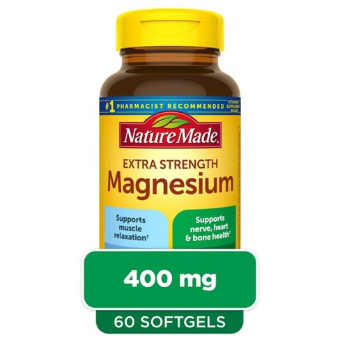 Nature Made Extra Strength Magnesium 400 mg Softgels - 60ct - image 1 of 4