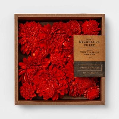 Unscented Shola Wood Zinnia Vase Filler Red - Smith & Hawken™